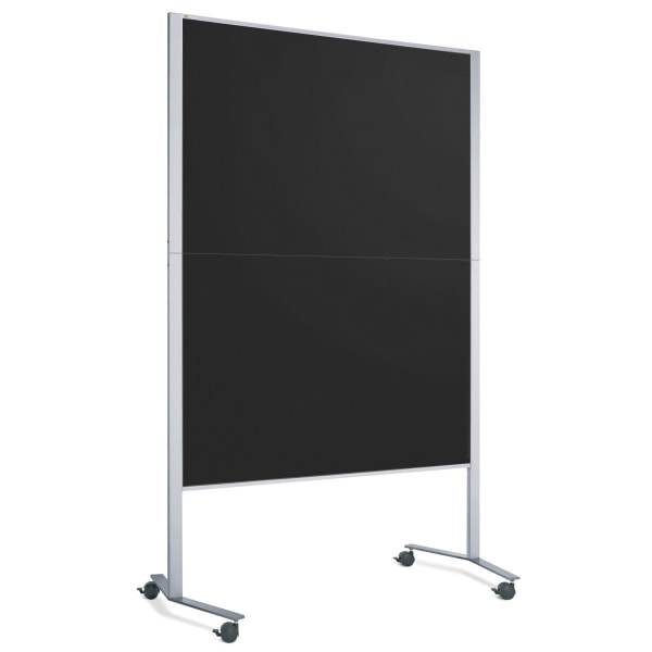 LW-11E Slide Pinboard: silver/black foam board