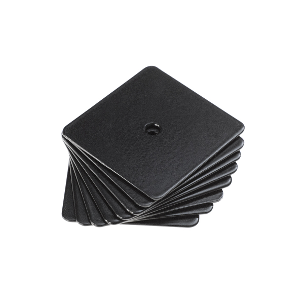 Small steel sheets, self-adhesive, for magnets