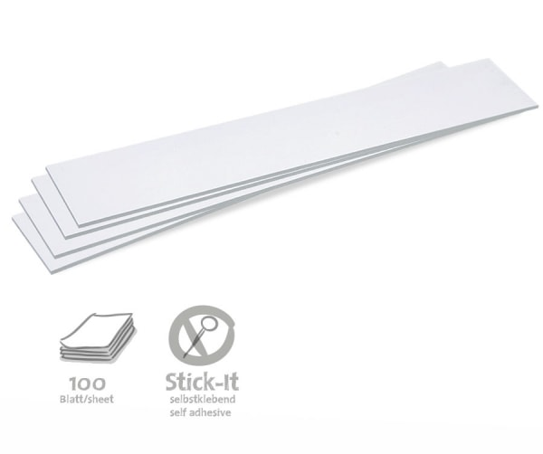 Stick-It Cards, titles, 100 sheets, single colors
