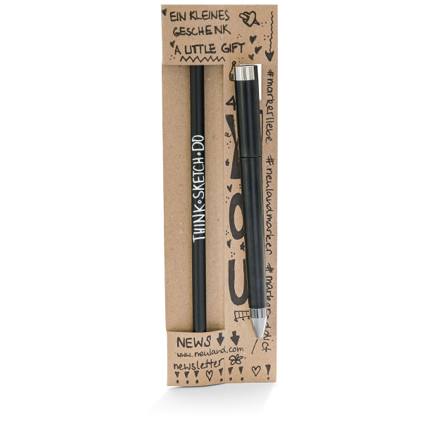 Welcome gift: Pencil with eraser tip & pen