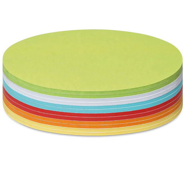Stick-It Cards, large circular, 300 sheets, assorted