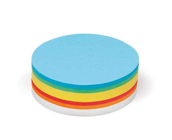 Pin-It Cards, large circular, 500 sheets, assorted