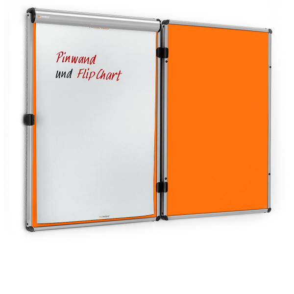 EuroTwin Wall Pinboard, left opening – Felt selection